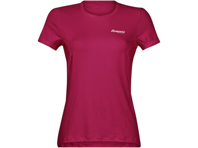 Bergans Fløyen T-shirt Femme, bougainvillea/strawberry/white